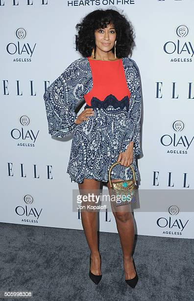 Actress Tracee Ellis Ross arrives at ELLE's 6th Annual Women In Television Dinner at Sunset Tower Hotel on January 20 2016 in West Hollywood...