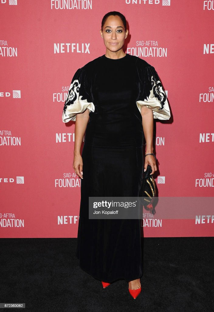 Actress Tracee Ellis Ross arrives at SAG-AFTRA Foundation Patron of the Artists Awards 2017 on November 9, 2017 in Beverly Hills, California.