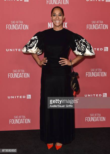 Actress Tracee Ellis Ross arrives at SAGAFTRA Foundation Patron of the Artists Awards 2017 on November 9 2017 in Beverly Hills California