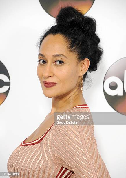 Actress Tracee Ellis Ross arrives at the 2017 Winter TCA Tour Disney/ABC at the Langham Hotel on January 10 2017 in Pasadena California