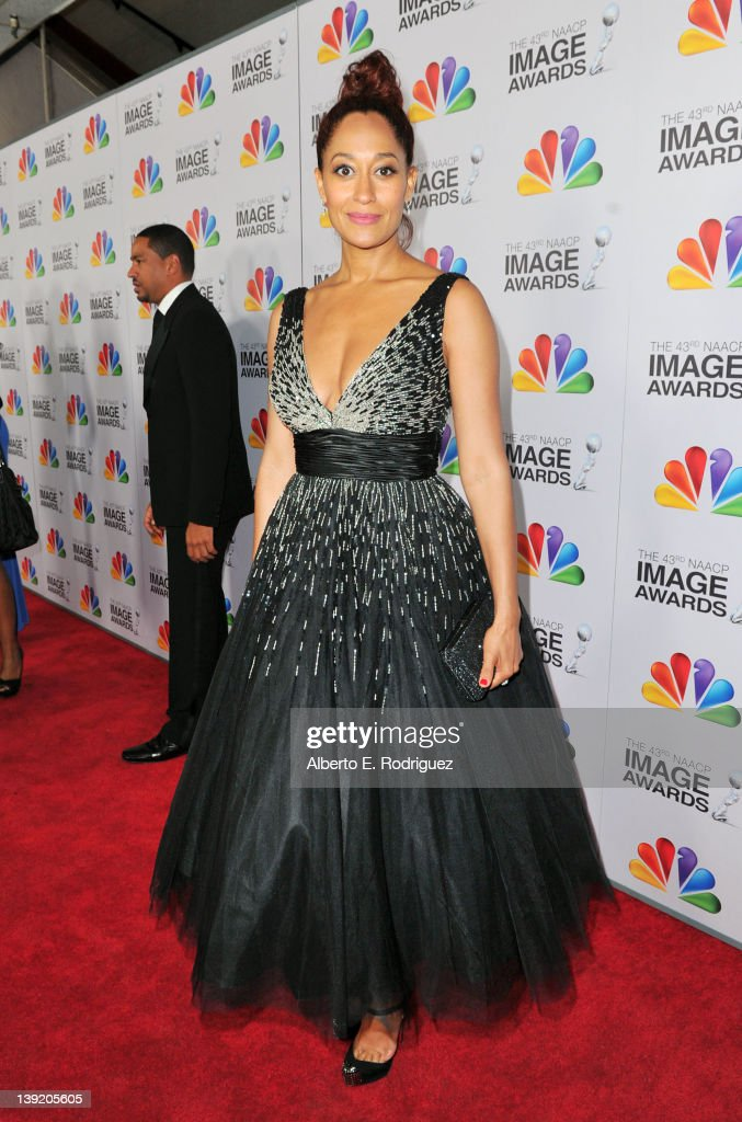 Actress Tracee Ellis Ross arrives at the 43rd NAACP Image Awards held at The Shrine Auditorium on February 17, 2012 in Los Angeles, California.