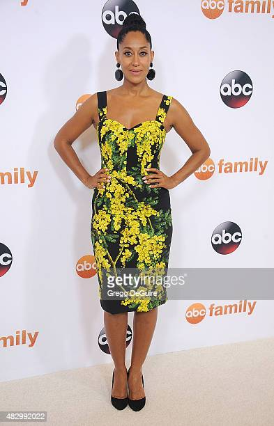 Actress Tracee Ellis Ross arrives at the Disney ABC Television Group's 2015 TCA Summer Press Tour on August 4 2015 in Beverly Hills California