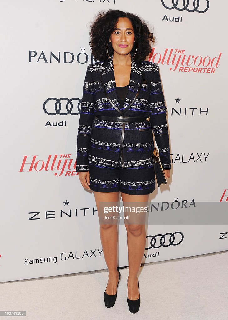 Actress <a gi-track='captionPersonalityLinkClicked' href=/galleries/search?phrase=Tracee+Ellis+Ross&family=editorial&specificpeople=211601 ng-click='$event.stopPropagation()'>Tracee Ellis Ross</a> arrives at The Hollywood Reporter Nominees' Night 2013 Celebrating 85th Annual Academy Award Nominees at Spago on February 4, 2013 in Beverly Hills, California.