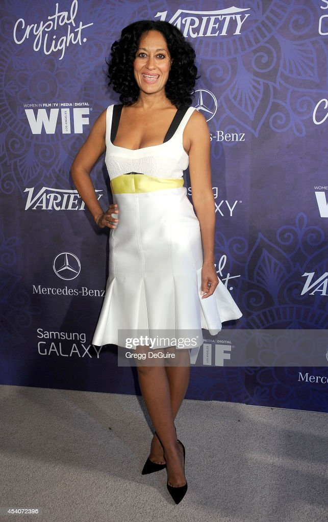 Actress Tracee Ellis Ross arrives at the Variety And Women In Film Annual Pre-Emmy Celebration at Gracias Madre on August 23, 2014 in West Hollywood, California.