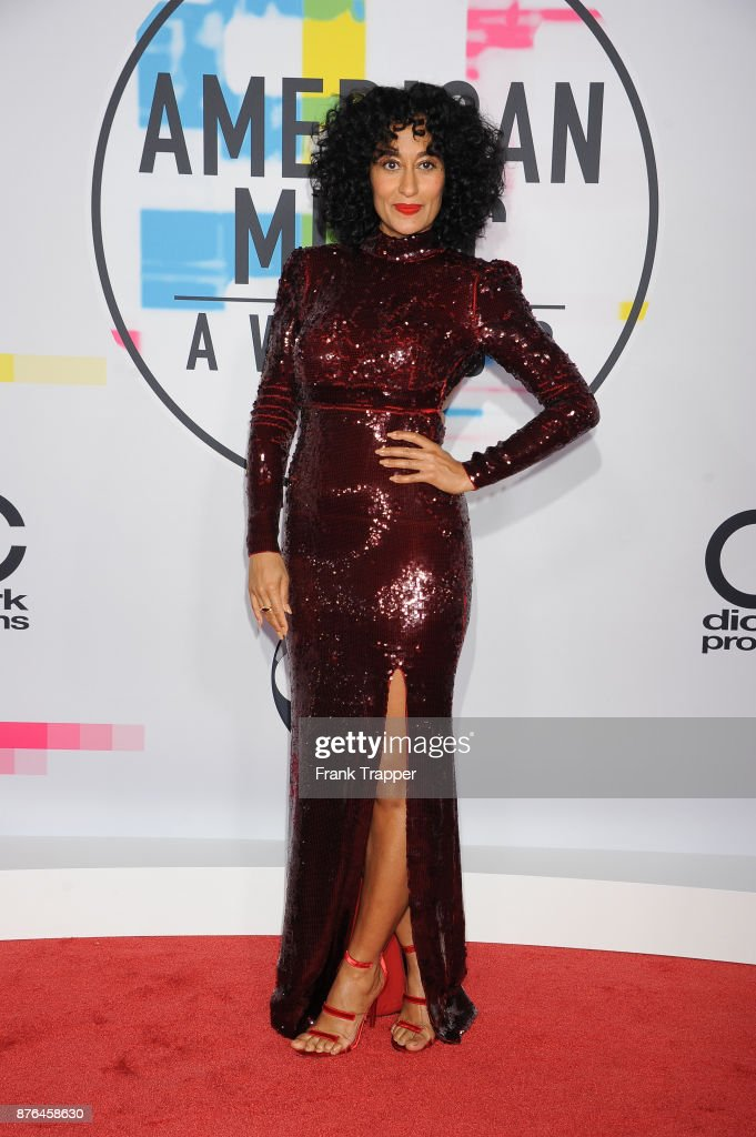 Actress Tracee Ellis Ross attends 2017 American Music Awards at Microsoft Theater on November 19, 2017 in Los Angeles, California.