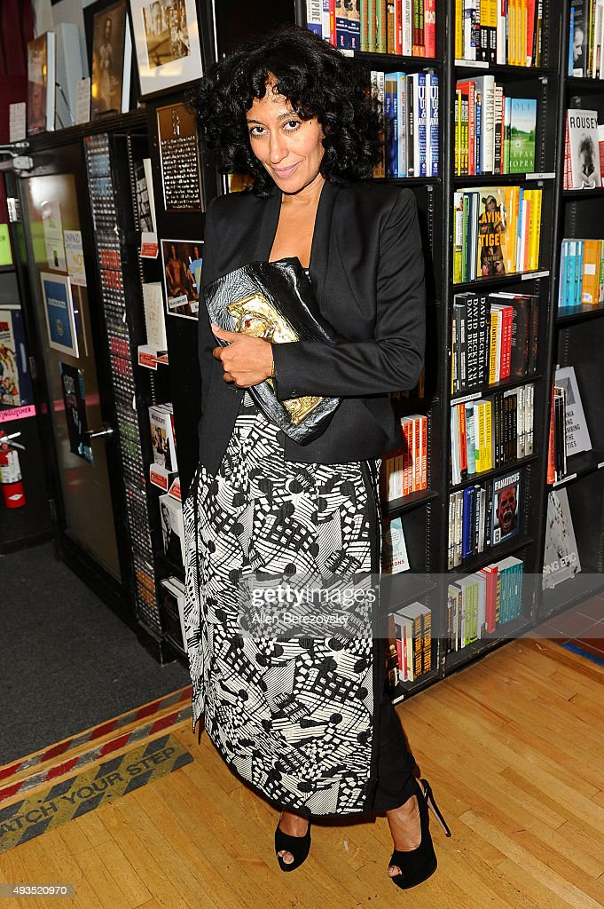Actress Tracee Ellis Ross attends a conversation with Joe Zee about his new book 'That's What Fashion Is' at Book Soup on October 20 2015 in West...