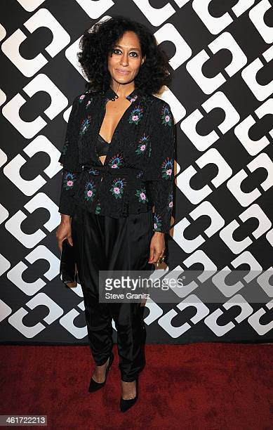 Actress Tracee Ellis Ross attends Diane Von Furstenberg's 'Journey Of A Dress' Premiere Opening Party at Wilshire May Company Building on January 10...