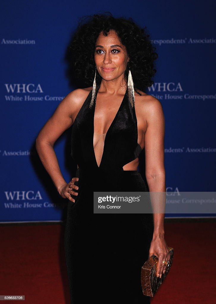 Actress <a gi-track='captionPersonalityLinkClicked' href=/galleries/search?phrase=Tracee+Ellis+Ross&family=editorial&specificpeople=211601 ng-click='$event.stopPropagation()'>Tracee Ellis Ross</a> attends the 102nd White House Correspondents' Association Dinner on April 30, 2016 in Washington, DC.