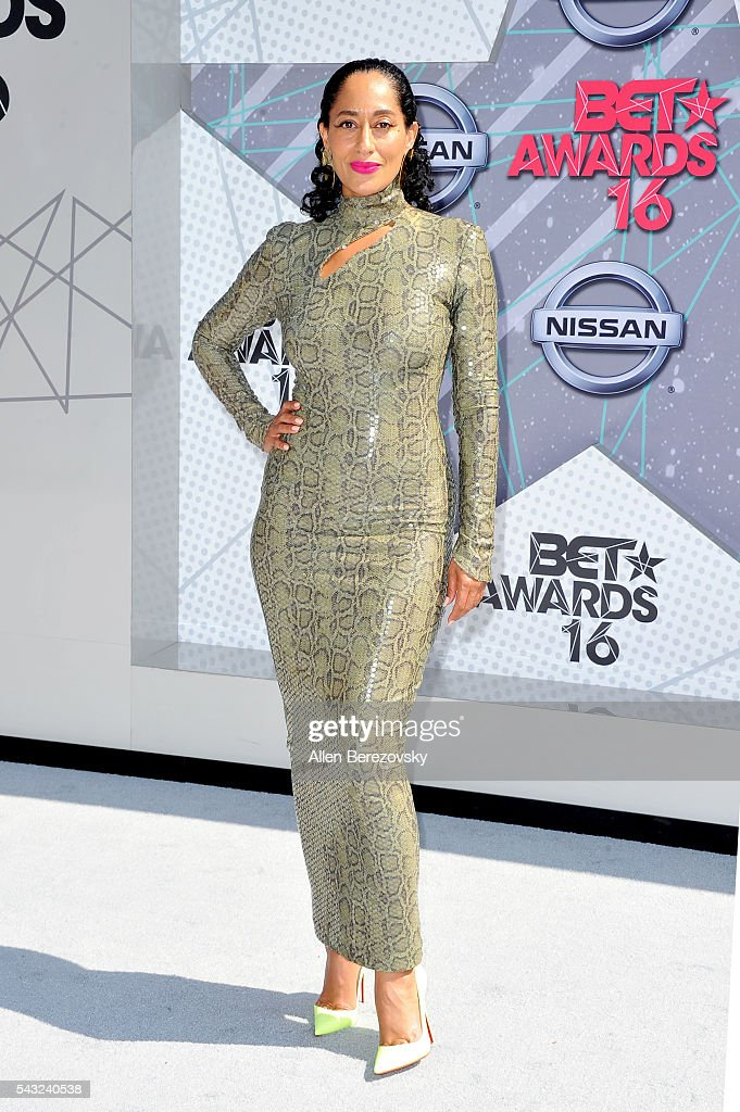 Actress <a gi-track='captionPersonalityLinkClicked' href=/galleries/search?phrase=Tracee+Ellis+Ross&family=editorial&specificpeople=211601 ng-click='$event.stopPropagation()'>Tracee Ellis Ross</a> attends the 2016 BET Awards at Microsoft Theater on June 26, 2016 in Los Angeles, California.