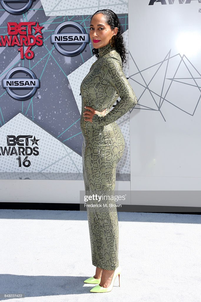 Actress <a gi-track='captionPersonalityLinkClicked' href=/galleries/search?phrase=Tracee+Ellis+Ross&family=editorial&specificpeople=211601 ng-click='$event.stopPropagation()'>Tracee Ellis Ross</a> attends the 2016 BET Awards at the Microsoft Theater on June 26, 2016 in Los Angeles, California.