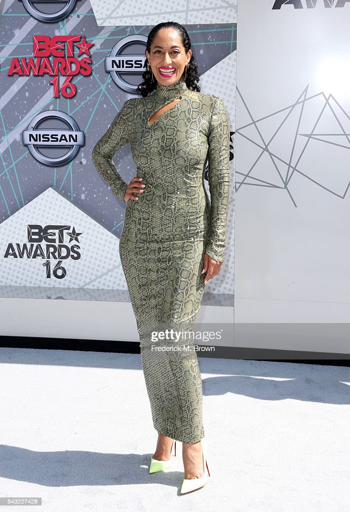 Actress Tracee Ellis Ross attends the 2016 BET Awards at the Microsoft Theater on June 26 2016 in Los Angeles California