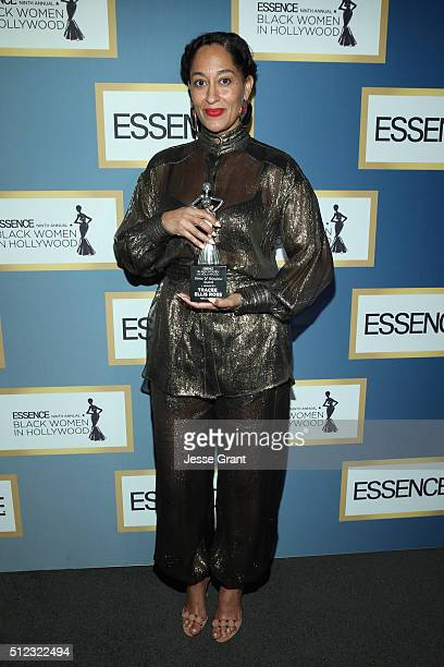 Actress Tracee Ellis Ross attends the 2016 ESSENCE Black Women In Hollywood awards luncheon at the Beverly Wilshire Four Seasons Hotel on February 25...