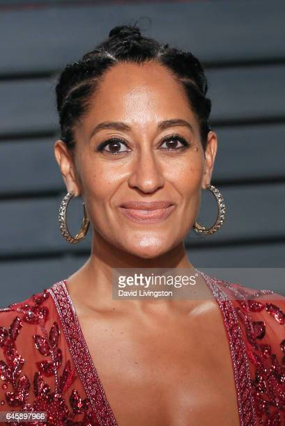 Actress Tracee Ellis Ross attends the 2017 Vanity Fair Oscar Party hosted by Graydon Carter at the Wallis Annenberg Center for the Performing Arts on...