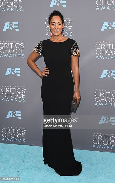 Actress Tracee Ellis Ross attends the 21st Annual Critics' Choice Awards at Barker Hangar on January 17 2016 in Santa Monica California