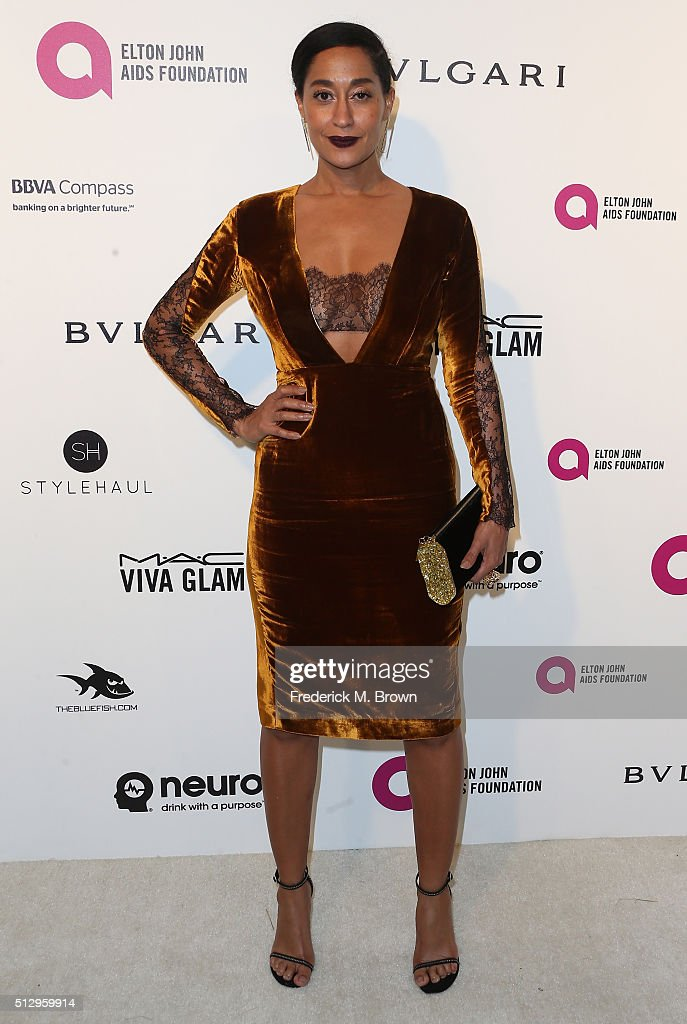 Actress Tracee Ellis Ross attends the 24th Annual Elton John AIDS Foundation's Oscar Viewing Party on February 28 2016 in West Hollywood California