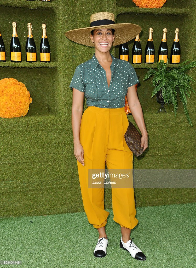 Actress Tracee Ellis Ross attends the 8th annual Veuve Clicquot Polo Classic at Will Rogers State Historic Park on October 14, 2017 in Pacific Palisades, California.