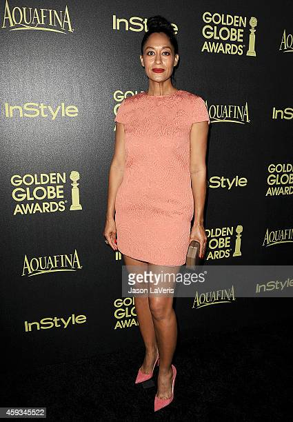 Actress Tracee Ellis Ross attends the Hollywood Foreign Press Association and InStyle's celebration of the 2015 Golden Globe award season at Fig...