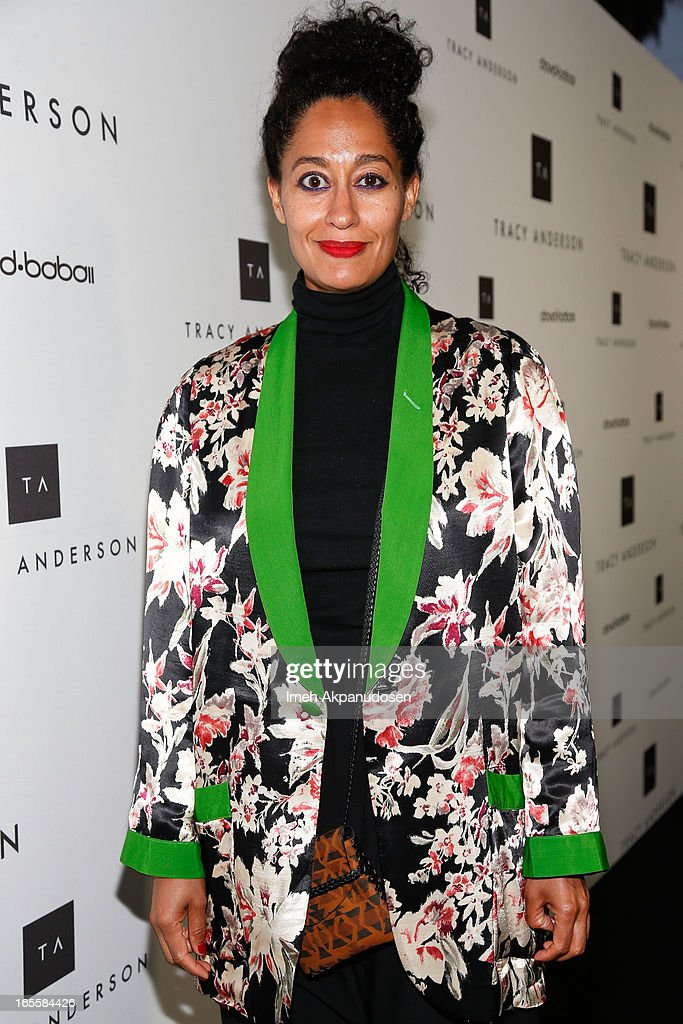 Actress <a gi-track='captionPersonalityLinkClicked' href=/galleries/search?phrase=Tracee+Ellis+Ross&family=editorial&specificpeople=211601 ng-click='$event.stopPropagation()'>Tracee Ellis Ross</a> attends the opening of Tracy Anderson flagship studio at Tracy Anderson Flagship Studio on April 4, 2013 in Brentwood, California.