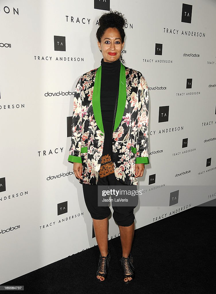 Actress Tracee Ellis Ross attends the opening of Tracy Anderson Flagship Studio on April 4, 2013 in Brentwood, California.