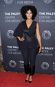 Actress Tracee Ellis Ross attends the The Paley Center For Media hosts a tribute to AfricanAmerican achievements in television at Cipriani Wall...