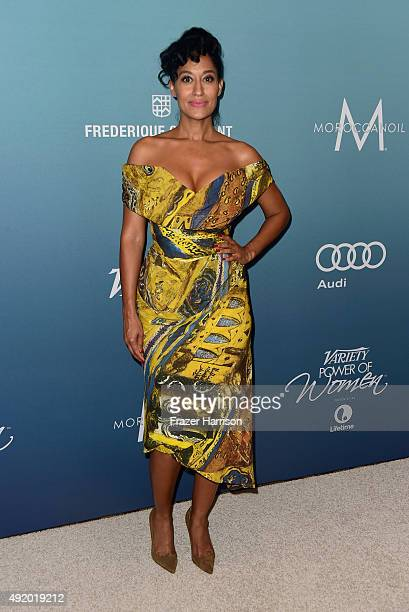 Actress Tracee Ellis Ross attends Variety's Power Of Women Luncheon at the Beverly Wilshire Four Seasons Hotel on October 9 2015 in Beverly Hills...