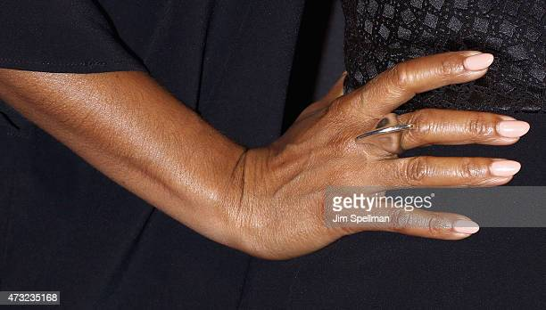 Actress Tracee Ellis Ross jewelry detail attends the The Paley Center For Media hosts a tribute to AfricanAmerican achievements in television at...