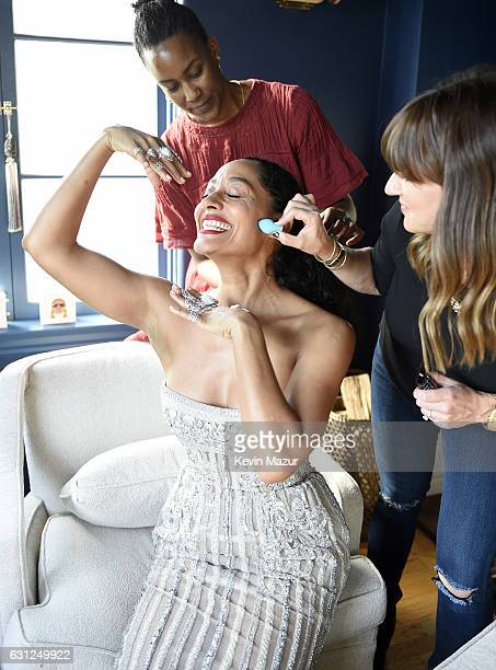 Actress Tracee Ellis Ross prepares for The 74th Annual Golden Globe Awards on January 8 2017 in Los Angeles California