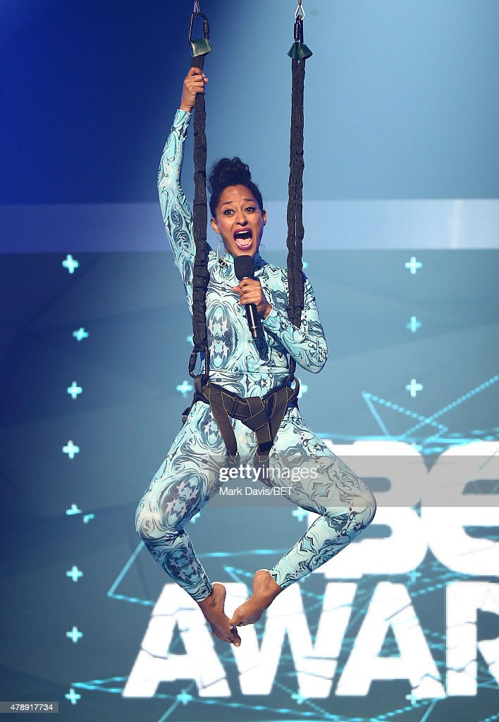 Actress Tracee Ellis Ross speaks onstage during the 2015 BET Awards at the Microsoft Theater on June 28, 2015 in Los Angeles, California.
