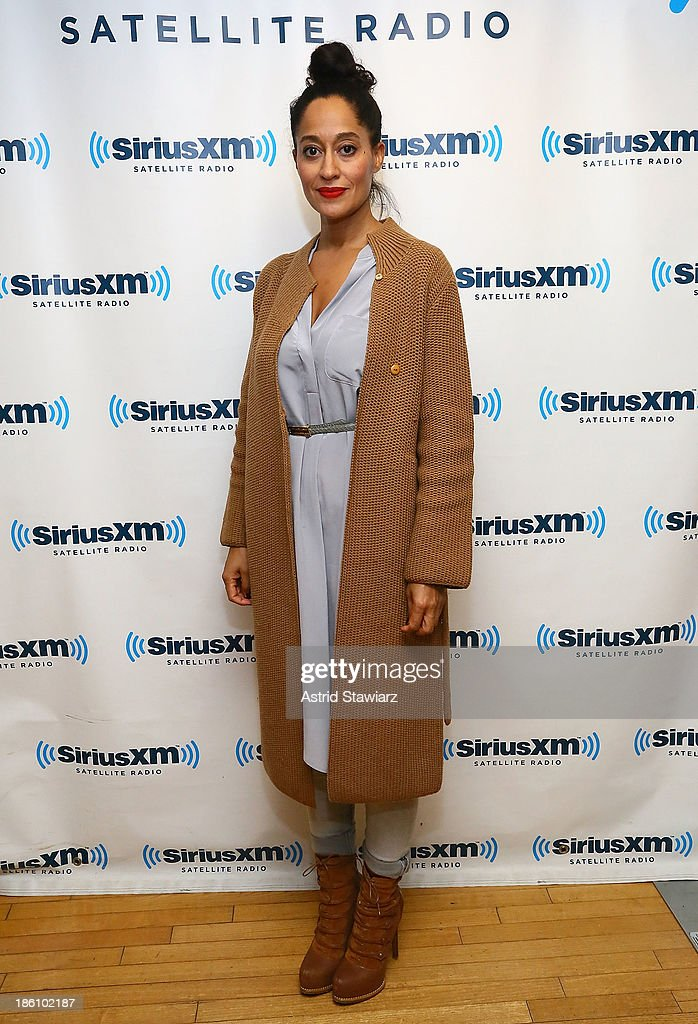 Actress Tracee Ellis Ross visits the SiriusXM Studios on October 28, 2013 in New York City.