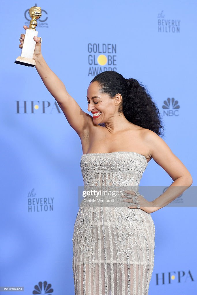 Actress Tracee Ellis Ross, winner of Best Performance in a Television Series - Musical or Comedy for 'Black-ish,' poses in the press room during the 74th Annual Golden Globe Awards at The Beverly Hilton Hotel on January 8, 2017 in Beverly Hills, California.