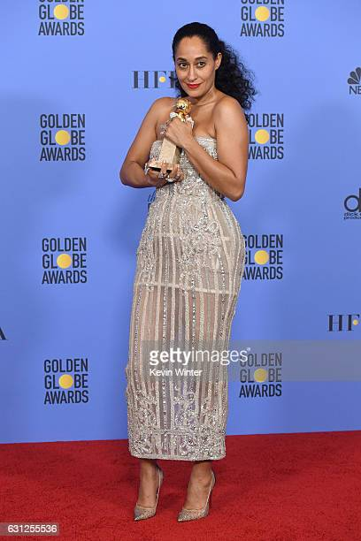 Actress Tracee Ellis Ross winner of Best Performance in a Television Series Musical or Comedy for 'Blackish' poses in the press room during the 74th...