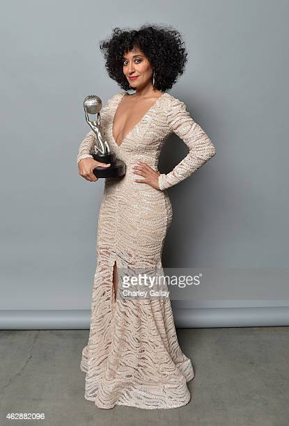 Actress Tracee Ellis Ross winner of the award for Outstanding Actress in a Comedy Series for 'Blackish' poses in the portrait studio during the 46th...