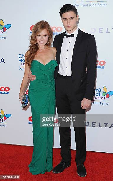 Actress Tracey Bregman and son Landon Recht arrive at the Children's Hospital Los Angeles Gala Noche de Ninos at LA Live Event Deck on October 11...