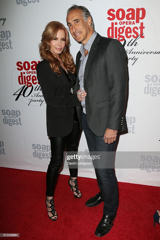 Actress Tracey E. Bregman and guest arrive at the 40th Anniversary of the Soap Opera Digest at The Argyle on February 24, 2016 in Hollywood, California.