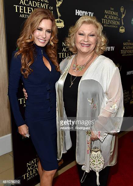 Actress Tracey E Bregman and guest attend The 41st Annual Daytime Emmy Awards at The Beverly Hilton Hotel on June 22 2014 in Beverly Hills California