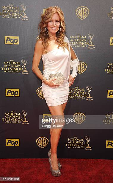 Actress Tracey E Bregman arrives at the 42nd Annual Daytime Emmy Awards at Warner Bros Studios on April 26 2015 in Burbank California