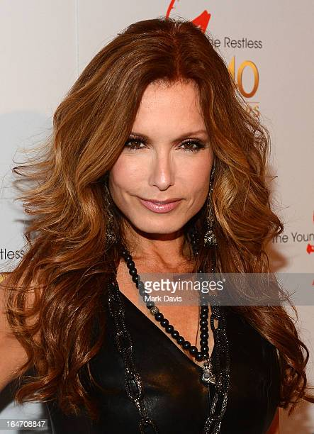 Actress Tracey E Bregman poses at 'The Young The Restless' 40th anniversary cakecutting ceremony at CBS Television City on March 26 2013 in Los...
