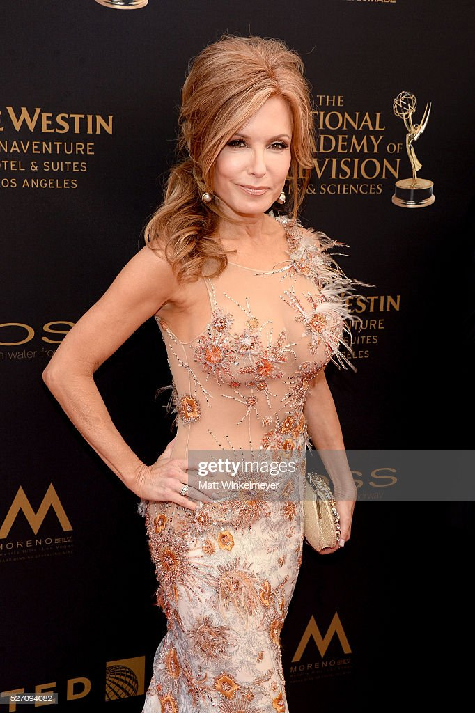 Actress Tracey E. Bregman walks the red carpet at the 43rd Annual Daytime Emmy Awards at the Westin Bonaventure Hotel on May 1, 2016 in Los Angeles, California.
