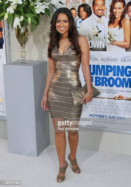 Actress Tracey Edmonds arrives at the 'Jumping The Broom' Los Angeles premiere at ArcLight Cinemas Cinerama Dome on May 4 2011 in Hollywood California