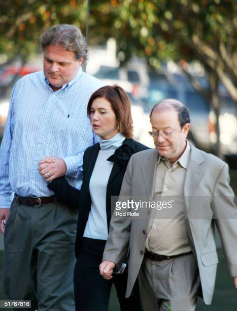 Actress Tracey Gold and her husband Roby Marshall arrive at the Ventura Superior Courthouse on November 19 2004 in Ventura California The 35yearold...