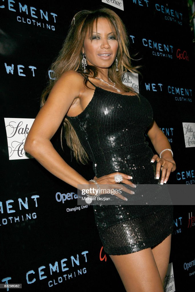 Actress Traci Bingham attends the 'Play in Wet Cement' To Benefit Operation Smile on October 15, 2008 in Hollywood, California.