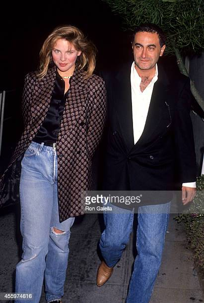 Actress Traci Lind and date Dodi Fayed on April 22 1991 at Spago in West Hollywood California