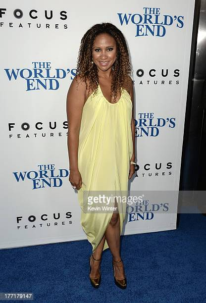 Actress Tracie Thoms arrives at the premiere of Focus Features' 'The World's End' at ArcLight Cinemas Cinerama Dome on August 21 2013 in Hollywood...