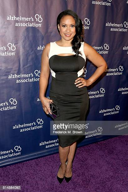 Actress Tracie Thoms attends the 24th and final 'A Night at Sardi's' to benefit the Alzheimer's Association at The Beverly Hilton Hotel on March 9...