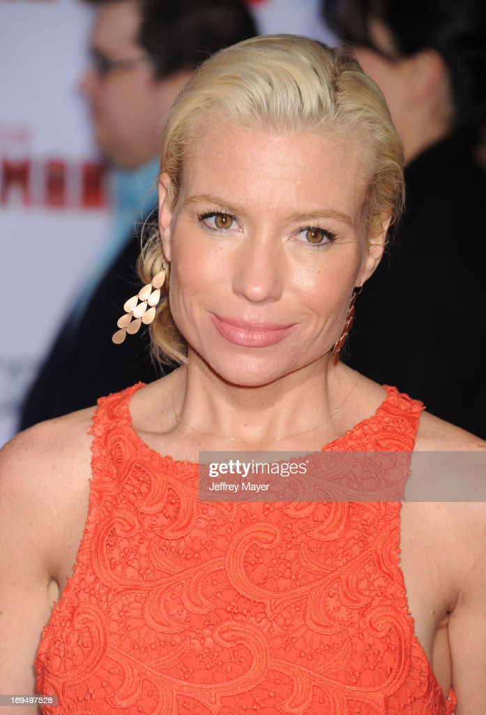 Actress Tracy Anderson arrives at the Los Angeles Premiere of 'Iron Man 3' at the El Capitan Theatre on April 24 2013 in Hollywood California