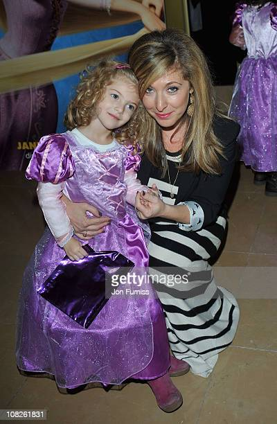 Actress Tracy Ann Oberman with her daughter Anoushka India attends the UK film premiere of 'Tangled' at The Mayfair Hotel on January 23 2011 in...