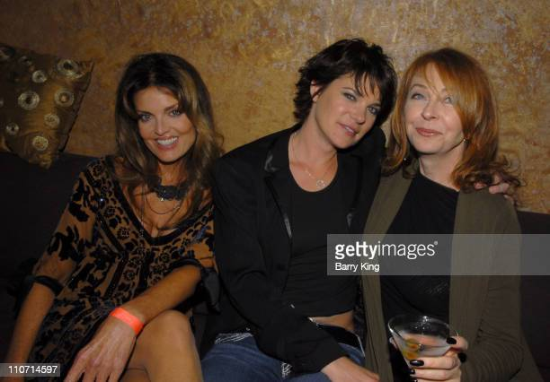 Actress Tracy Scoggins actress Michelle Wolff and actress Cassandra Peterson attend the 'Dante's Cove' Season Three after party held at Eleven...