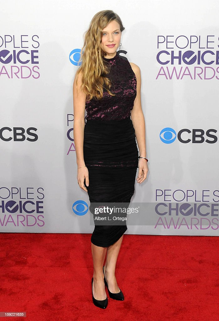 Actress Tracy Spiridakos arrives for the 34th Annual People's Choice Awards - Arrivals held at Nokia Theater at L.A. Live on January 9, 2013 in Los Angeles, California.