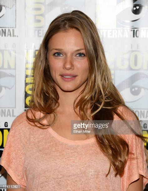 Actress Tracy Spiridakos attends NBC's 'Revolution' press line during ComicCon International 2013 at the Hilton San Diego Bayfront Hotel on July 20...