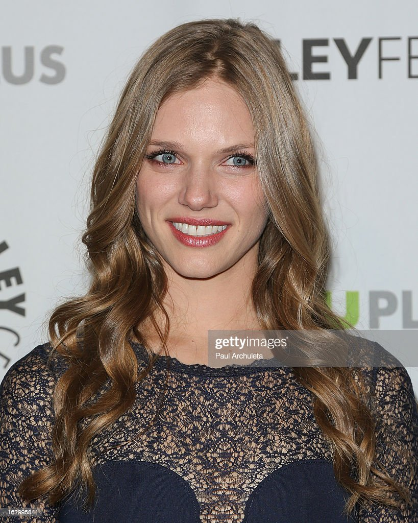 Actress <a gi-track='captionPersonalityLinkClicked' href=/galleries/search?phrase=Tracy+Spiridakos&family=editorial&specificpeople=8954855 ng-click='$event.stopPropagation()'>Tracy Spiridakos</a> attends the 30th annual PaleyFest featuring the cast of 'Revolution' at the Saban Theatre on March 2, 2013 in Beverly Hills, California.